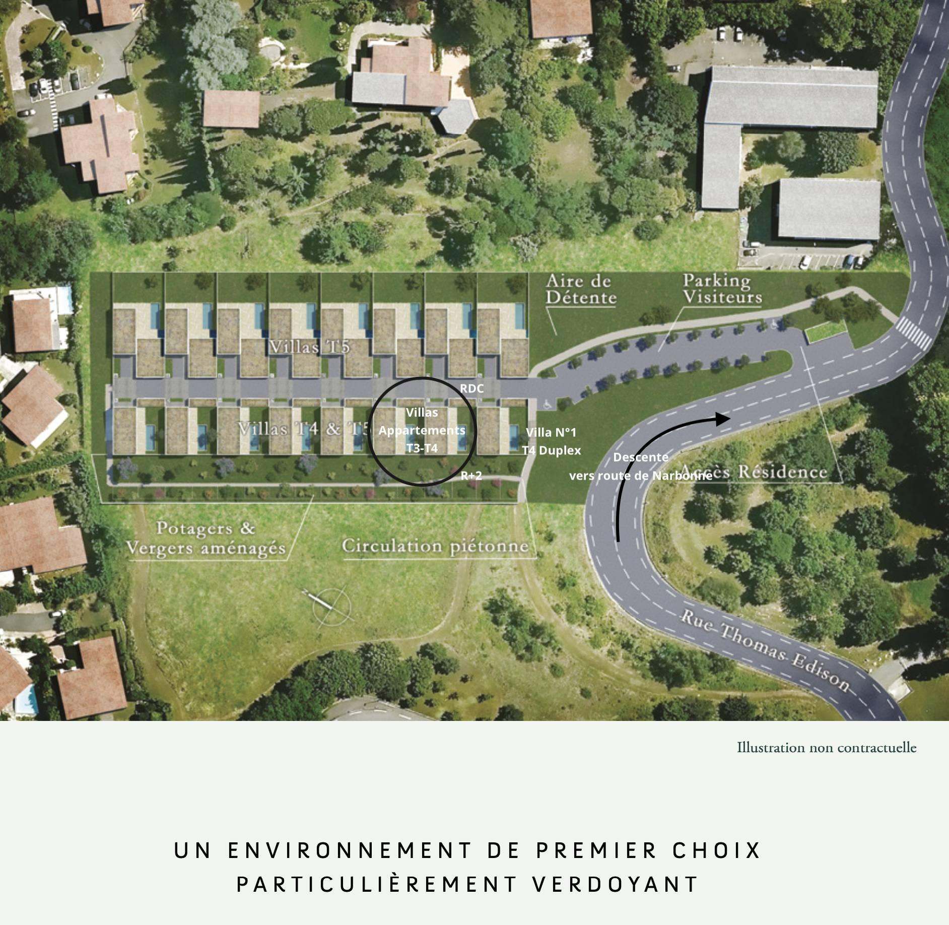 Villa-Raphael-PechDavid-Toulouse-VueAérienne-Lotissement-UrbanHouse360