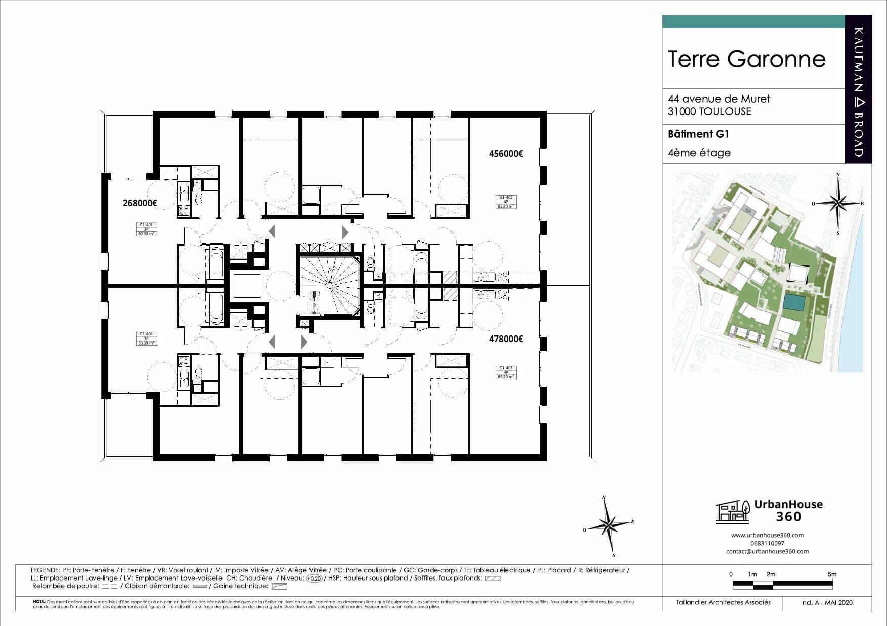 Urbanhouse360-Kaufman-Broad-Terre-Garonne_G1-R+4_2D 2