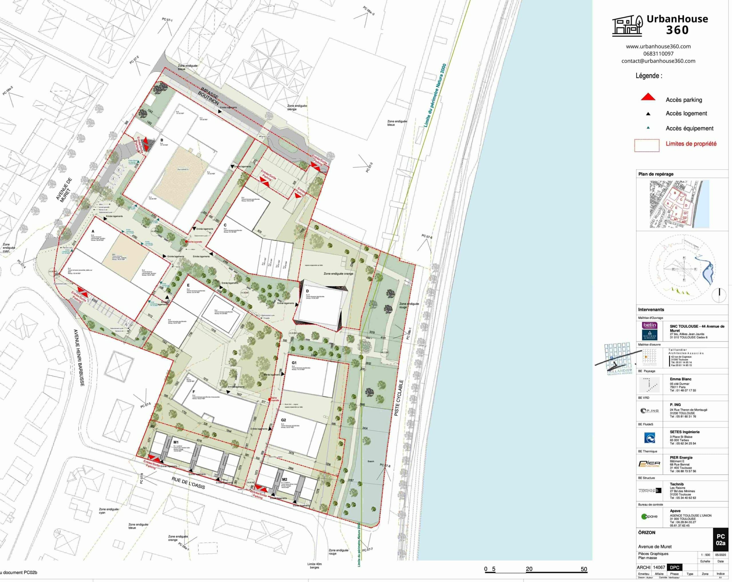 Urbanhouse360-Kaufman-Broad-Terre-Garonne_Plan-de-Masse