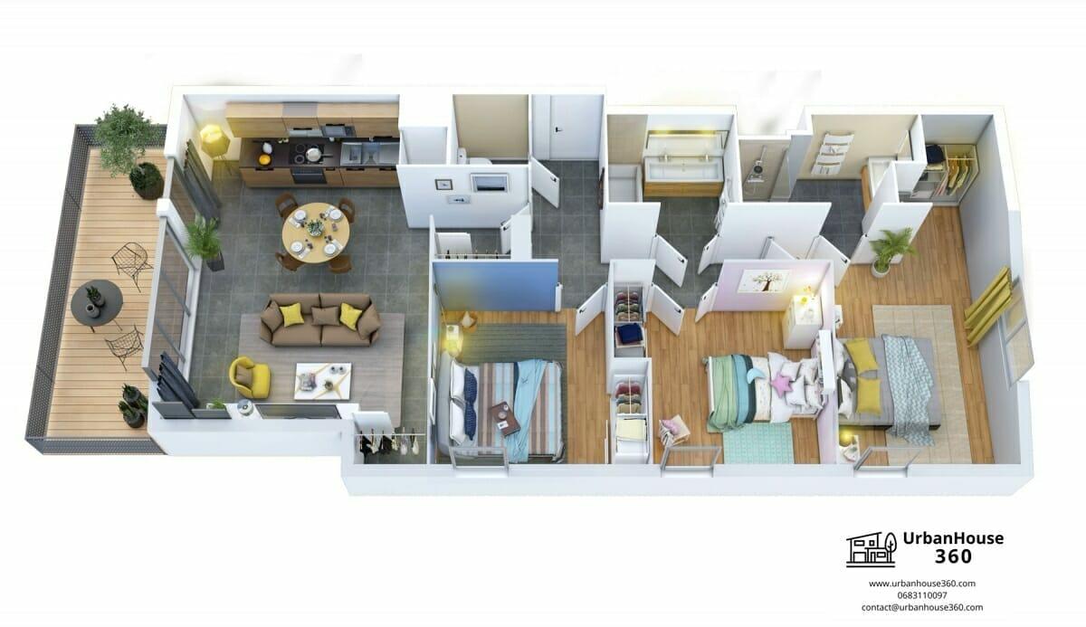 Urbanhouse360-PromoMidi-CouleurGaronne-intérieur-3D