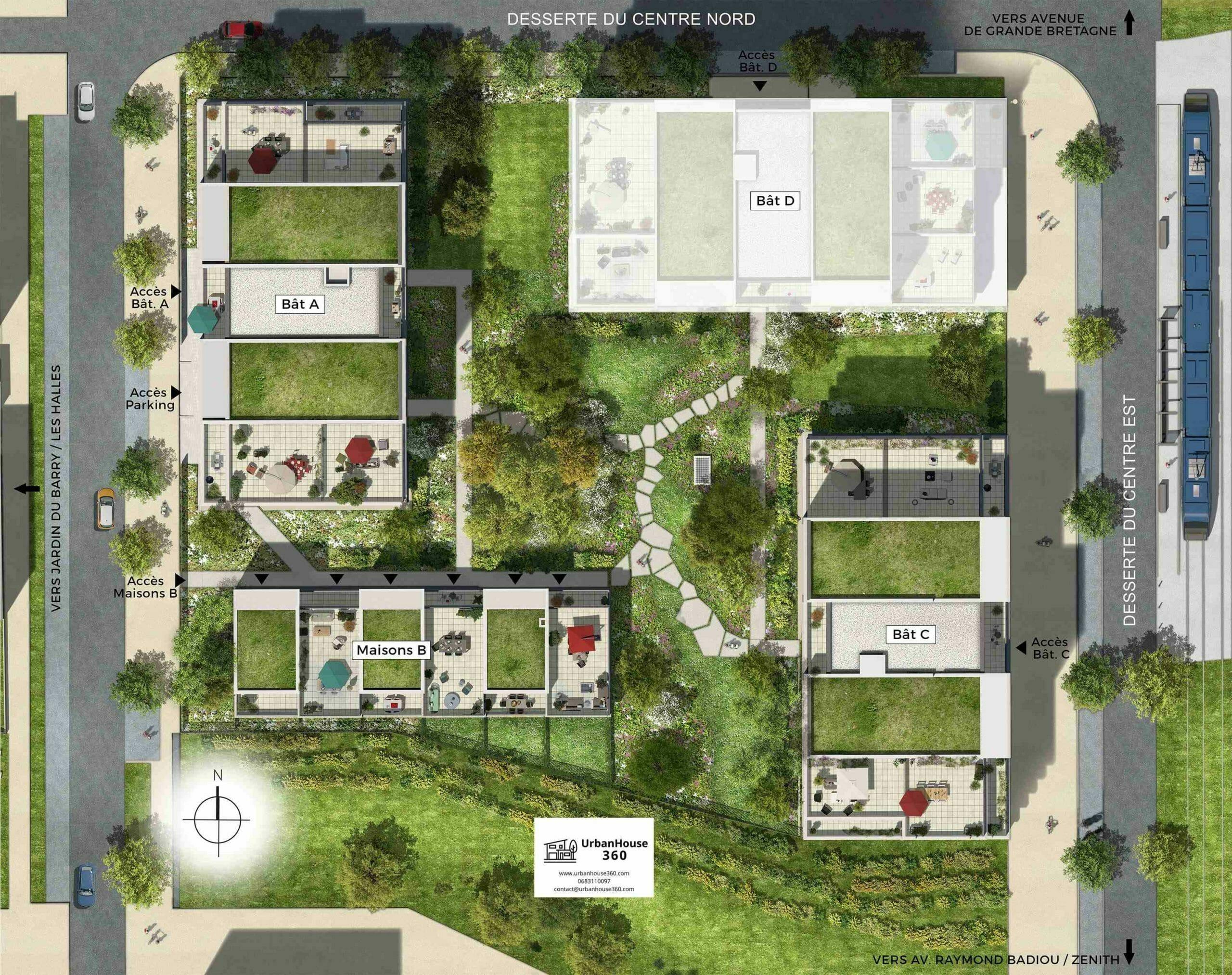 UrbanGarden-Villas-PlandeMasseBatiments
